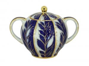 Lomonosov Imperial Porcelain Sugar Bowl Winter Night 15 oz/450 ml