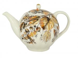 Lomonosov Imperial Porcelain Teapot Tulip My Garden 3-Cup 20 oz/600 ml