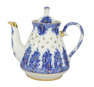 Lomonosov Imperial Porcelain Porcelain Teapot BASKET 5-Cup 25 oz/750 ml