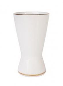 Russian Porcelain Porcelain Napkin Holder Youth Golden Ribbon
