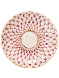 Russian Porcelain Porcelain Jam Dish Tulip Red Net Blues 3.9