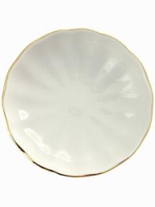 Imperial Porcelain Porcelain Jam Dish Tulip Snow White 3.9