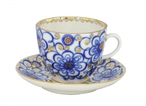 Porcelain Tulip Coffee Cup and Saucer Bindweed 4.7 oz/140 ml