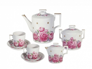 Lomonosov Porcelain Tea Set 6/14 Romantic Date