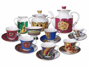 Lomonosov Porcelain Tea Set 6/16 Colored Dreams