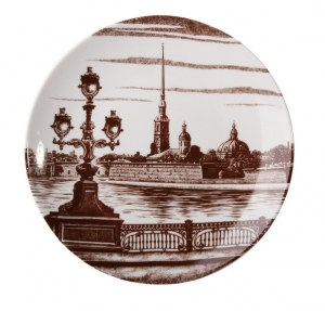 Decorative Wall Plate Peter and Paul Fortress, St.Petersburg 7.7