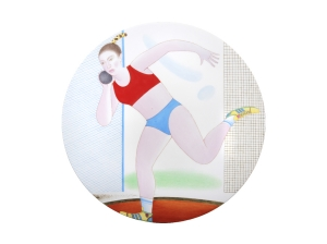 Decorative Wall Plate Summer Olympic Games Shot Put 10.8