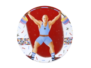 Decorative Wall Plate Summer Olympic Games Weightlifting 10.8