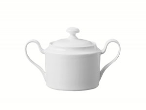 Lomonosov Porcelain Sugar Bowl Premium White 13.5 fl.oz/400 ml