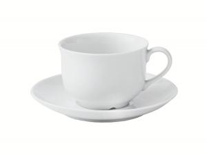 Lomonosov Porcelain Tea Cup and Saucer Olympia White 6.8 fl.oz/200 ml