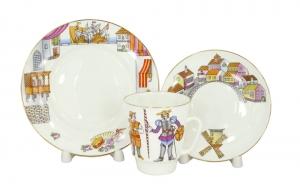 Lomonosov Imperial Porcelain Bone China Cup and Saucer May Ballet Don Quixote (Alonso Quijano) 5.6 fl.oz/165 ml 3 pc