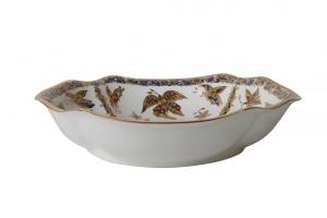 Lomonosov Imperial Porcelain Cake Сookie Biscuit Pastry Dish Natasha Fantastic Butterflies