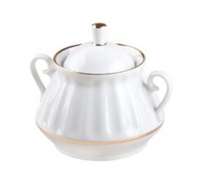 Lomonosov Imperial Porcelaine Sugar Bowl Snow White 10 oz/300 ml