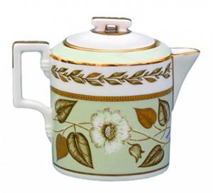 Lomonosov Imperial Porcelain Creamer Jade Background 8.1 oz/240 ml