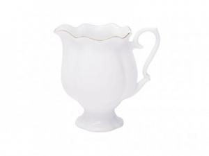 Lomonosov Imperial Porcelain Bone China Porcelain Creamer Natasha Golden Ribbon 10.8 fl.oz/320 ml