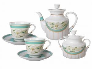 Lomonosov Porcelain Tea Set 6/14  North Aurora