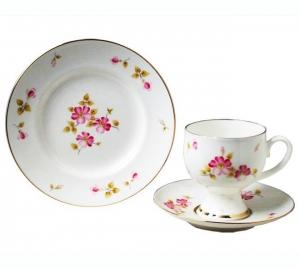 Lomonosov Imperial Porcelain Bone China Coffee Set Enchantress Cup 5,41 oz/160 ml 3pc