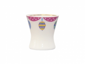 Easter Egg Porcelain Holder Cup Amethyst