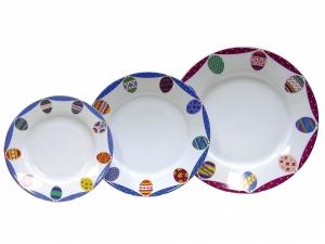 Easter Porcelain Salad and Dessert Plates Set 3 pc Amethyst