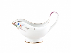 Lomonosov Imperial Porcelain Gravy Boat Alexandria Moscow River 9.5 fl.oz/280 ml