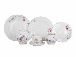 Lomonosov Porcelain Spring-2 Tea Set Flowering Sweet Pea 20 items