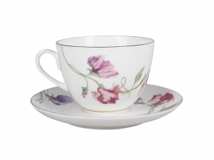 Lomonosov Porcelain Spring-2  Tea Set 2 pc Flowering Sweet Pea