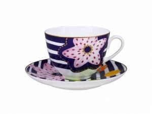 Lomonosov Bone China Porcelain Spring-2 Tea Set 2 pc Bouquet for Vera