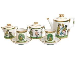 Lomonosov Imperial Porcelain Tea Set Baby Rats Thieves