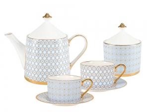 Bone China Porcelain Tea Set Service Azur