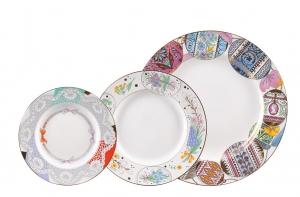 Lomonosov Porcelain Dinner Plate Set Easter 3 pieces