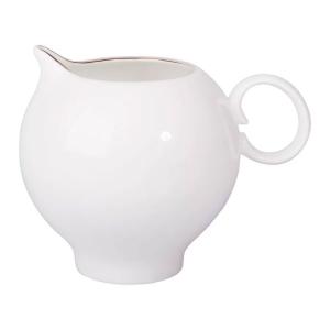 Lomonosov Porcelain Bone China Creamer Apple Golden Edge 7.3 fl.oz/215 ml