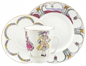 Bone China Cup and Saucer May Ballet Sleeping Beauty (Tchaikovsky)
