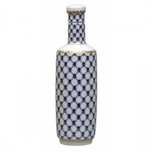 Lomonosov Imperial Porcelain Whiskey/Vodka Decanter Сylinder Cobalt Net 20 oz/600 ml