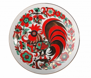 Decorative Wall Plate Red Rooster 7.7