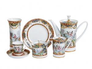 Russian Ballet Bone China Tea Set 22pc