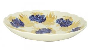 Lomonosov Imperial Porcelain Cake Сookie Biscuit Pastry Dish Golden Garden 8.5