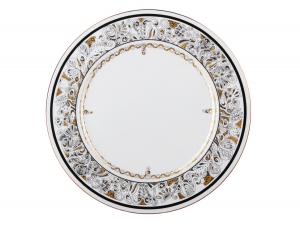 Lomonosov Imperial Porcelaine Dinner Plate Cake Platter European-2 Russian Modern 12.6
