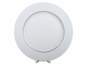 Lomonosov Porcelain Dinner Plate European-2 Platinum Omega Net 10.6
