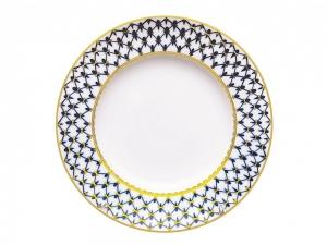 Lomonosov Dinner Flat Plate Cobalt Net 10.6