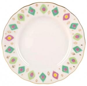 Lomonosov Imperial Porcelain Cake Dessert Plate Tulip Peacock's Feather 7