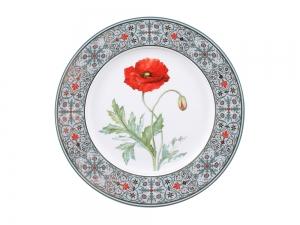 Lomonosov Porcelain Decorative Plate Poppy 10.6