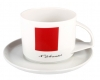 Imperial Porcelain Tea Cup and Saucer Suprematism Red Square Malevich 10 oz/295 ml