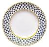 "Lomonosov Porcelain Flat Plate Tulip Cobalt Net 10.6""/270 mm."