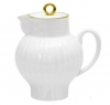 Lomonosov Imperial Porcelain Bone China Creamer Wave Golden Edge 9 fl.oz /270 ml