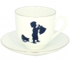 Lomonosov Imperial Porcelain Bone China Cup and Saucer Little Boy Helper 6.1 fl.oz/180ml