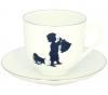 Lomonosov Imperial Porcelain Bone China Cup and Saucer Little Boy Helper 6.1 fl.oz/180ml