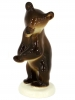 Brown Bear Baby Dancing Lomonosov Imperial Porcelain Figurine