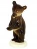 Brown Bear Baby Dancing Lomonosov Imperial Porcelain Figurine