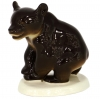 Brown Bear Walking Lomonosov Imperial Porcelain Figurine