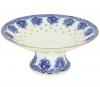 "Lomonosov Imperial Porcelain Candy Vase Basket 7.6"" D"